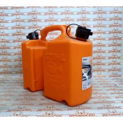"""Канистра комбинированная STIHL """"Стандарт"""", 5 л., оранжевая, для масла цепи и для топливной смеси / 0000-881-0111"""