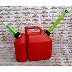 Канистра комбинированная 6 литров бензина / 2,5 литра масла REZOIL / 03.011.00047