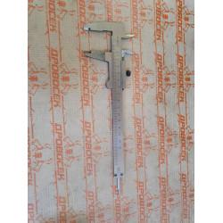 Металлический штангенциркуль,тип 1, класс точности 2, 150 мм, шаг 0,1мм Зубр /  3445-150