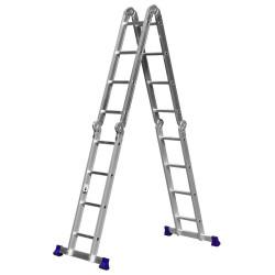 Лестница-трансформер СИБИН алюминиевая, 4 х 4 ступеней / 38852