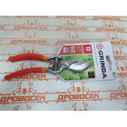 Секатор кованный GRINDA (Германия) режет ветки до 12 мм / 423101