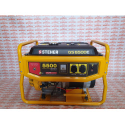 Бензиновый генератор с электростартером STEHER GS-6500E, 5500 Вт