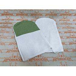 Рукавицы хлопчатобумажные с брезентовым наладонником,  XL / 11421