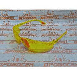 Очки защитные открытого типа ЗУБР Спектр 3 желтые,  двухкомпонентные дужки / 110316