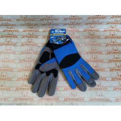 Профессиональные комбинированные перчатки для тяжелых механических работ ЗУБР МОНТАЖНИК, размер XL / 11475-XL