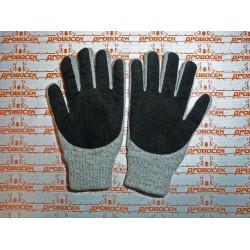 Перчатки утепленные Зубр, с флисовой подкладкой и спилковым наладонником, акрил+полушерсть / 11468-XL