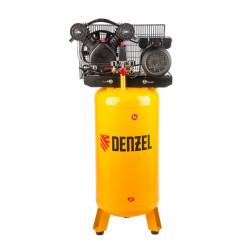 Компрессор Denzel DRV2200/100V, масляный ременный, с вертикальным ресивером, 10 бар, производительность 440 л/м, мощность 2,2 кВт / 58099