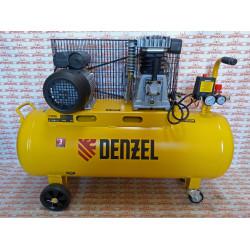 Компрессор воздушный Denzel BCI2300/100, ременный привод, 2,3 кВт, 100 литров, 400 л/мин / 58114