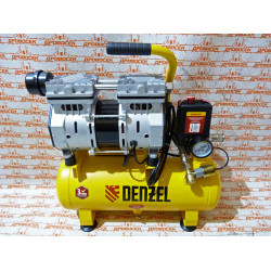 Компрессор Denzel DLS650/10 безмаслянный малошумный 650 Вт, 120 л/мин, ресивер 10 л / 58021