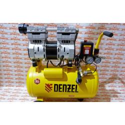 Компрессор Denzel DLS950/24 безмаслянный малошумный 950 Вт, 165 л/мин, ресивер 24 л / 58026