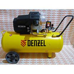 Компрессор воздушный Denzel DKV2200/100, Х-PRO 2.2 кВт, 400 л/мин, 100л / 58079