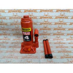 Домкрат гидравлический бутылочный STAYER RED FORCE Professional (4 тонны + высота: от 195 до 380 мм) / 43160-4