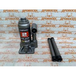 Домкрат гидравлический бутылочный MIRAX (2 тонны + высота: от 148 до 278 мм) / 43260-2