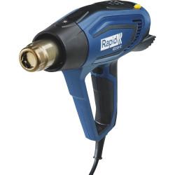 Фен строительный RAPID R2200, 2200 Вт. Регулировка температуры: 60-650 °C. Расход воздуха: 250-500 л/мин. Светодиодная индикация нагрева / 5001343
