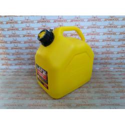 """Канистра 10л для топлива REZOIL LUX (Желтая, """"куб"""", встроенная лейка) / 03.011.00044"""