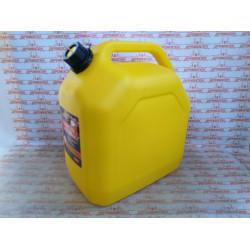 """Канистра 25л для топлива REZOIL LUX (Желтая, """"куб"""", встроенная лейка) / 03.011.00046"""