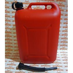 Канистра для топлива REZOIL 25л с крышкой и лейкой / 03.011.00042