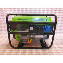 Генератор бензиновый Сибртех БС-6500, 5,5 кВт, 230В, четырехтактный, 25 л, ручной стартер / 94546