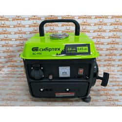 Генератор бензиновый Сибртех БС-950, 0,8 кВт, 230 В, 2-х тактный, 4 л, ручной стартер / 94665