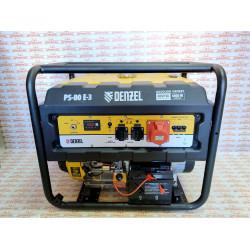 Генератор бензиновый Denzel PS 80 E-3, 8 кВт, 400 В, 25 л, электростартер / 946954