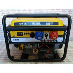 Генератор бензиновый Denzel PS 90 ED-3, 9.0 кВт, переключение режима 230 В/400 В, 25 л, электростартер / 946944