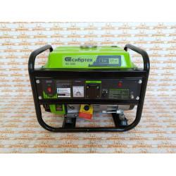 Генератор бензиновый Сибртех БС-1200, 1 кВт, 230 В, четырехтактный, 5,5 л, ручной стартер / 94541