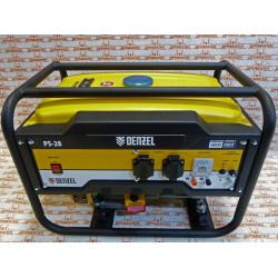 Генератор бензиновый Denzel PS 28, 2.8 кВт, 230 В, 15 л, ручной стартер / 946824