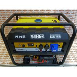 Генератор бензиновый Denzel PS 90 EA, 9.0 кВт, 230В, 25 л, коннектор автоматики, электростартер / 946934