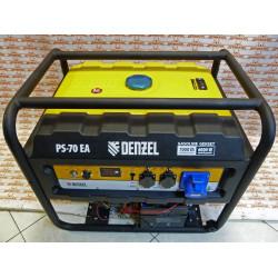 Генератор бензиновый Denzel PS 70 EA, 7.0 кВт, 230 В, 25 л, коннектор автоматики, электростартер / 946894