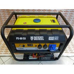 Генератор бензиновый Denzel PS 80 EA, 8.0 кВт, 230 В, 25 л, коннектор автоматики, электростартер / 946924