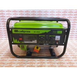 Генератор бензиновый Сибртех БС-2500, 2,2 кВт, 230В, четырехтактный, 15 л, ручной стартер / 94542
