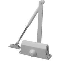 Доводчик дверной STAYER, для дверей массой до 80 кг, цвет белый / 37916-80