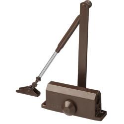Доводчик дверной STAYER, для дверей массой до 80 кг, цвет коричневый / 37917-80