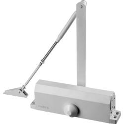 Доводчик дверной STAYER, для дверей массой до 100 кг, цвет белый / 37916-80