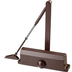 Доводчик дверной STAYER, для дверей массой до 100 кг, цвет коричневый / 37917-100