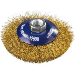 Щетка коническая для УШМ DEXX, витая 0.3 мм, 100 мм/М14 / 35105-100