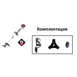 Бензиновая коса ЗУБР КРБ-250 (Объем двигателя, см3- 25 + нож + леска)