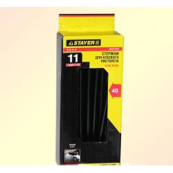 Стержень клеевой черный 11*200 мм (40 шт.) STAYER / 2-06821-D-S40