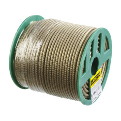 Трос стальной STAYER, MASTER, оболочка ПВХ, Ø4.0 (2.5) мм, максимальная нагрузка 470 кг, 100 м / 30410-40