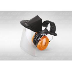 Маска защитная комбинированная с поликарбонатным лицевым щитком и наушниками Rezer FSK-4006PE
