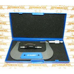 Микрометр ЗУБР, механический с термозащитой и трещеткой (100-125 мм)  / 34480-125