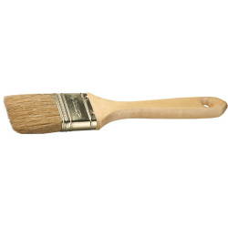 """Кисть плоская для всех видов ЛКМ ЗУБР """"УНИВЕРСАЛ"""", """"Эксперт"""", натуральная щетина, деревянная ручка, 20 мм / 4-01005-020"""