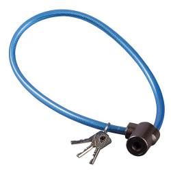"""Замок навесной ЗУБР велосипедный,""""Мастер"""", дисковый механизм секрета, ключ 7 PIN, 600 мм / 3720-6-01"""