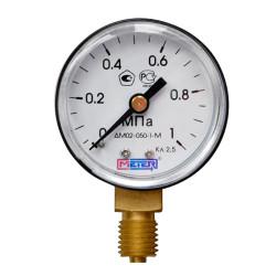 Манометр газовый 1 МПА, 50 мм., KRASS / 2190103