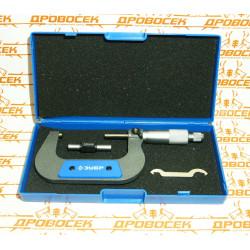 Микрометр ЗУБР, механический с термозащитой и трещеткой (50-75 мм)  / 34480-75
