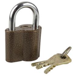 """Замок ЗУБР навесной, """"Мастер"""", компактный корпус, дисковый механизм секрета, ключ 7 PIN, 48х41 мм / 3720-26"""