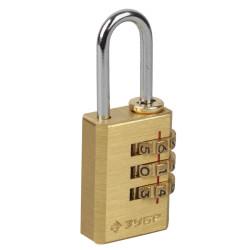 """Замок навесной ЗУБР мини кодовый, Эксперт"""", латунный корпус, 3 диска / 37118-1"""