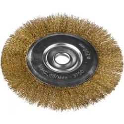 Щетка дисковая для УШМ DEXX, витая 0.3 мм, 200 мм/22.2 мм / 35101-200