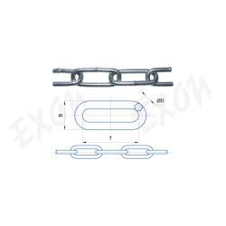 Цепь длиннозвенная стальная оцинкованная DIN 763
