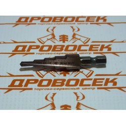 """Сверло ступенчатое """"ЗУБР"""" 4-6-8-10-12 мм (быстрорежущая сталь с кобальтом Р6М5) / 29672-4-12-5"""